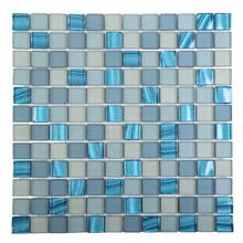 GREYDP003 Pearl Glass Mosaic - BLUE