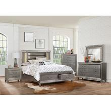 Tasmin Qn Storage Bed, Dresser, Mirror and Nightstand