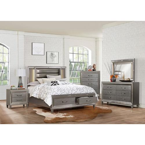Tasmin Qn Storage Bed, Dresser, Mirror and Nightstand