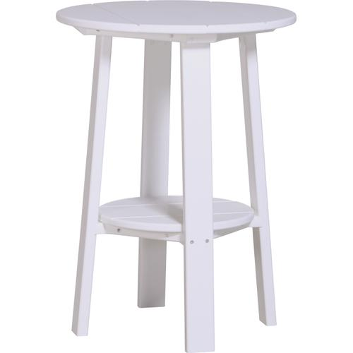 """Deluxe End Table 28"""" White"""