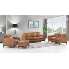 4 Piece Tan Leather Italia Newport Collection