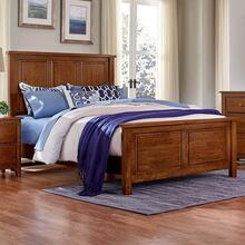 Queen Amish Cherry Panel Bed
