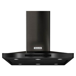 "Kitchenaid 36"" Black Stainless Steel Convertible Hood Product Image"