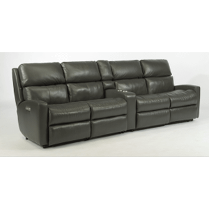 Catalina Leather Reclining Console Theater Seating