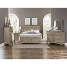 Allegra Kg Storage Bed, Dresser, Mirror and Nightstand