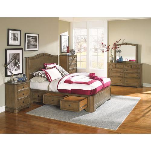 Whittier Wood - RGB Stonewood King Storage Bed Rustic Glazed Brown Finish