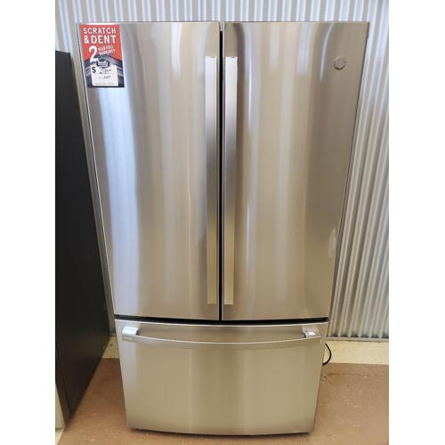 GE Profile™ ENERGY STAR® 23.1 Cu. Ft. Counter-Depth Fingerprint Resistant French-Door Refrigerator