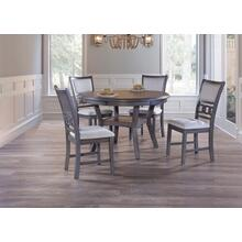 Gia Dining Room Set: Table and 4 Chairs, Grey