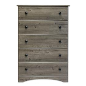 See Details - 5 Drawer Chest Weathered Gray Ash