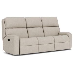 Flexsteel - Rio Power Reclining Sofa w/ Tilt Headrest - 818-01