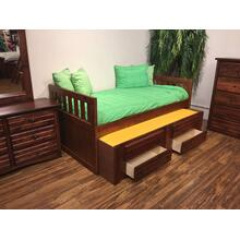"Twin Captains Bed W"" Trundle & Drawers Cocoa"