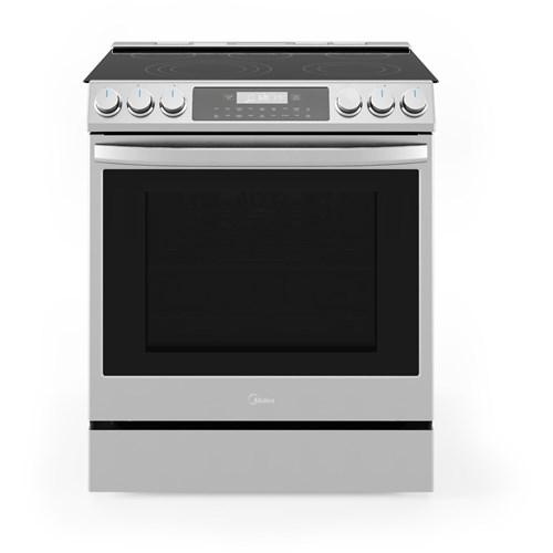 """Midea - 6.3 CF / 30"""" Electric Range, Convection, Wi-Fi - Stainless"""