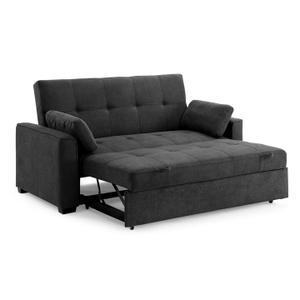 Night and Day Furniture - Nantucket Twin Size Sofa Sleeper in Light Grey