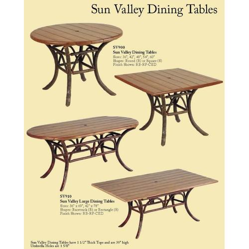 Sun Valley Dining Tables