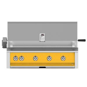 """Hestan - Aspire By Hestan 42"""" Built-In Grill With U-Burner, Sear, And Rotisserie NG Yellow"""