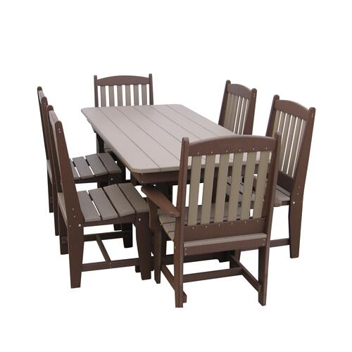 """72"""" Rectangle Table W/2 Arm Chairs And 4 Side Chairs"""