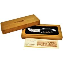 Laguiole En Aubrac Stainless Steel Shiny Sommerlier Waiters Knife Corkscrew with Carbone Handle