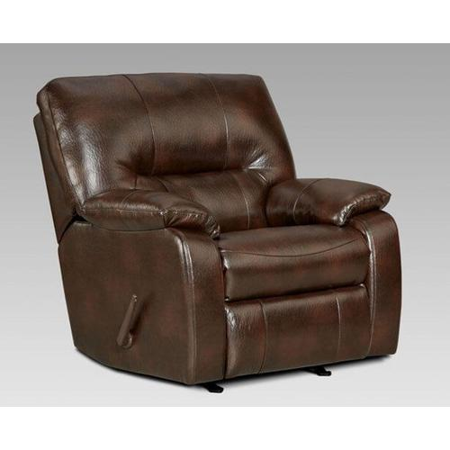 Affordable Furniture Manufacturing - Canyon Chocolate Rocker Recliner