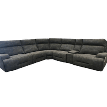 View Product - Fabric Power Sectional