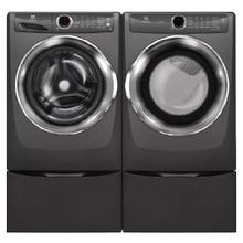 ELECTROLUX Front Load Perfect Steam  4.3 Cu. Ft Washer & 8.0 Cu. Ft. Electric Dryer w/ Pedestals- Titanium