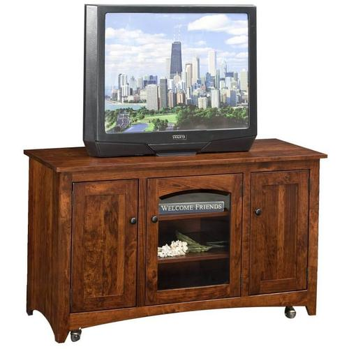"50"" Modern Shaker TV Stand on Casters"