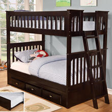 Espresso Twin over Twin Bunk Bed