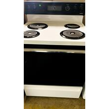 """USED- Hotpoint® 30"""" Free-Standing Electric Coil Range- E30WHCOIL-U SERIAL #38"""