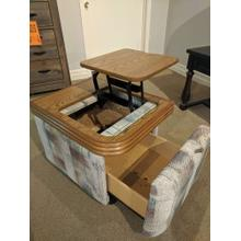 TABLE W/ LIFT TOP AND STORAGE DRAWER