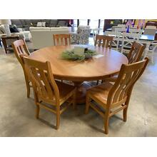 Amish-Built Solid Cherry Wood Dining Set