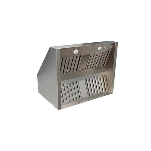 """66"""" Outdoor Wall Mounted Hood with Vertical Duct Discharge - Stainless Steel - CLEARANCE ITEM"""