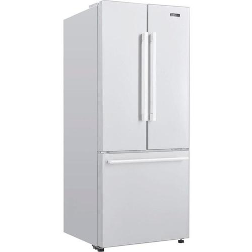 Galanz - Galanz 16 Cu Ft 3 Door French Door Refrigerator with Ice Maker in White