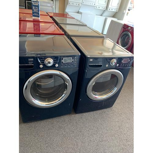 Packages - Refurbished Blue Electric LG Washer Dryer Set. Please call store if you would like additional pictures. This set carries our 6 month warranty, MANUFACTURER WARRANTY AND REBATES ARE NOT VALID (Sold only as a set)