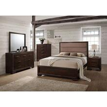 Allura - Dark oak Queen bed