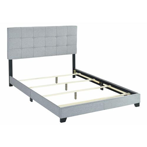 Florence Queen grey Bed with Contemporary Button Tufting by Crown Mark, Model 5270