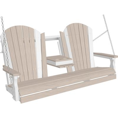 Adirondack Swing 5' Premium Birch and White