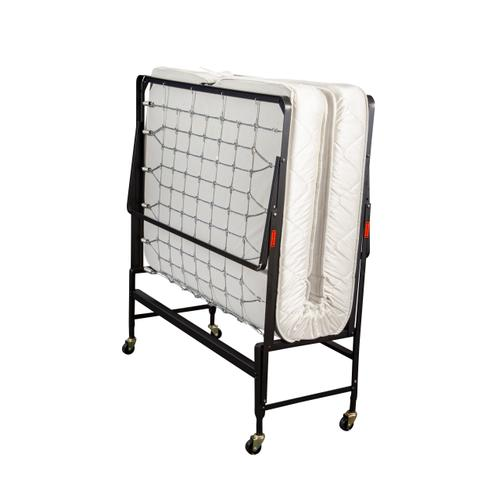 Nick's Furniture - TWIN SIZE ROLL AWAY BED (MATTRESS INCLUDED)