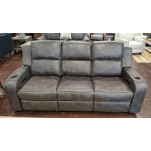 Charcoal Grey Power Head Rest Sofa