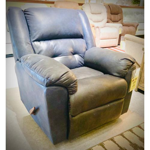 Affordable Furniture Manufacturing - TELLURIDE ROCKER RECLINER in Indigo     (2550-TELLU-RECL,40072)