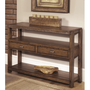 Null Furniture Inc - Sofa table/Media Console table in Distressed Umber finish   (1017-09,53012)