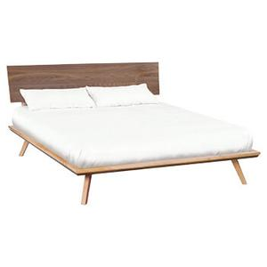 Addison cal-king black walnut adjustable headboard platform bed