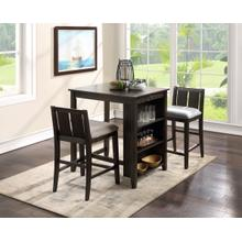 Heston 3-Piece Counter Height Dining Set in Cherry Finish
