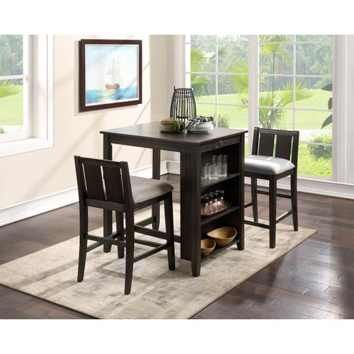 New Classic Furniture - Heston 3-Piece Counter Height Dining Set in Cherry Finish
