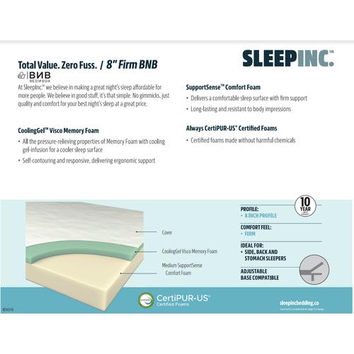Corsicana - SLEEP INC. 8 inch Mattress in a Box