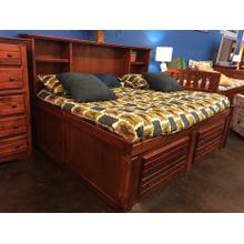 "Full Captains Bed W"" 4 Drawers Cocoa"