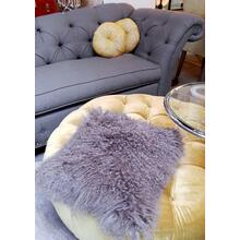 "Cushion Longwool Tibetan 16"" Grey"