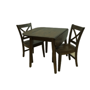 Gallery - Solid Wood Drop Leaf Table and Chairs in Ember Finish