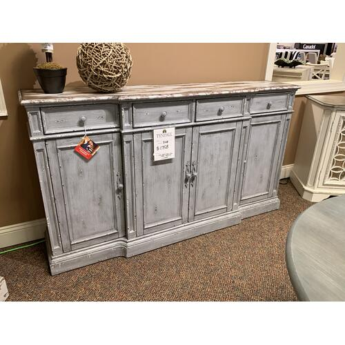 Media Credenza with 4 Doors and 4 Drawers