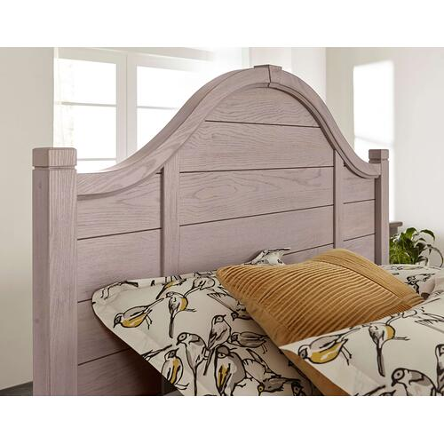 Queen Bungalow Dover Grey Arch Storage Bed