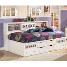Zayley - White Collection: 3 Piece Twin Storage Bed