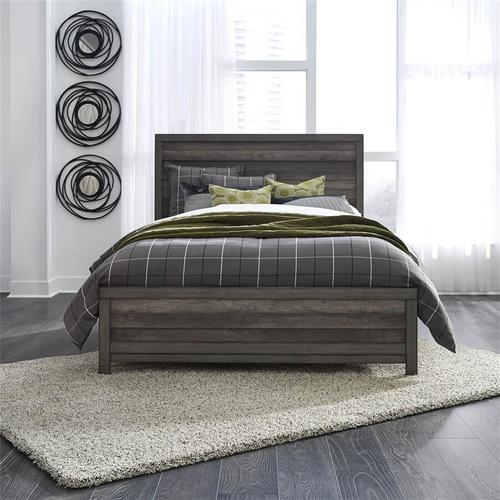 Tanners Creek - King Panel Bed in Greystone Finish